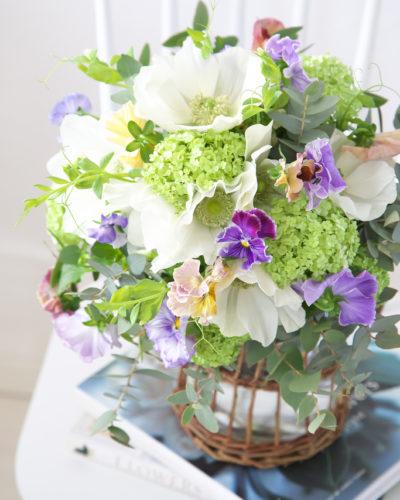『春待ちブーケ♬』生花 季節のブーケレッスン募集のお知らせ