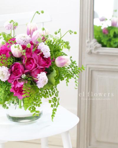『フレグランスローズ』生花 季節のブーケレッスン募集のお知らせ