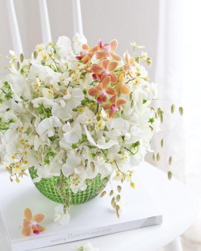 『サマースイトピー』生花 季節のブーケレッスンのお知らせ