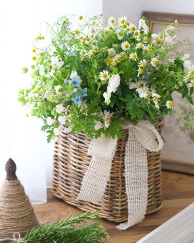 『ハーブが香るナチュラルブーケ』生花 季節のブーケレッスンのお知らせ