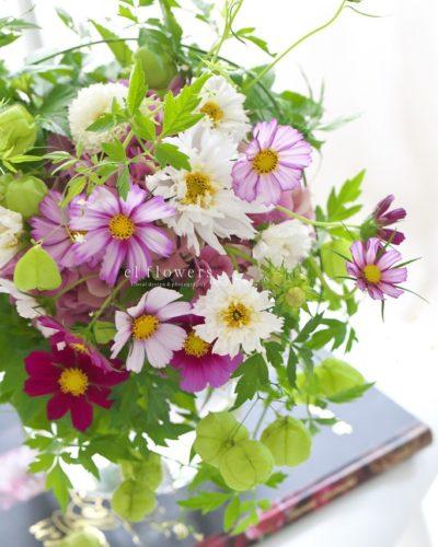 『コスモスのブーケ』生花 季節のブーケレッスンのお知らせ