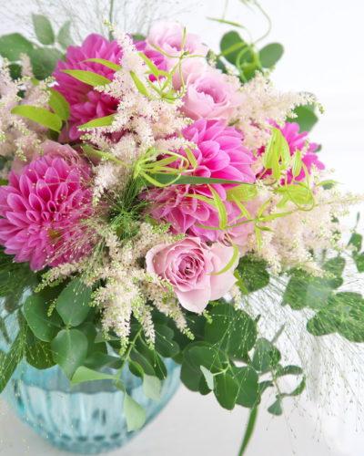 『ダリアとローズのブーケ』生花 季節のブーケレッスンのお知らせ