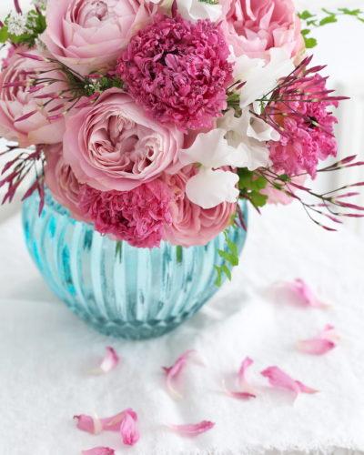 『ローズのラウンドブーケ』生花 季節のブーケレッスン募集のお知らせ
