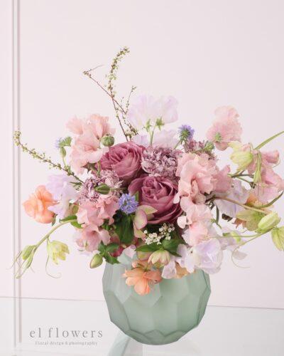 『春のブーケ(花器付)』生花 季節のブーケレッスン募集のお知らせ