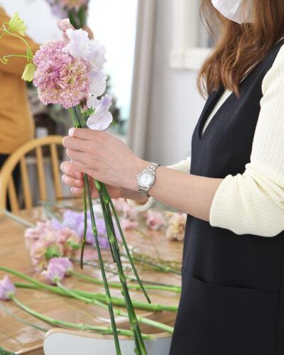 『春のブーケ(花器付)』レッスンレポート